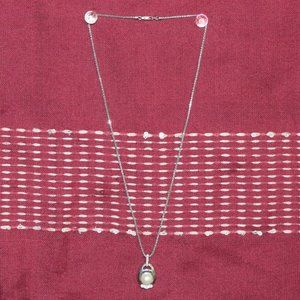 Diamond / Pearl / St. Silver Necklace